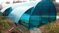 Навес для бассейна 4x6 с подъемными окнами