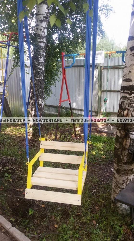 Качели детские подвесные деревянные (60см)