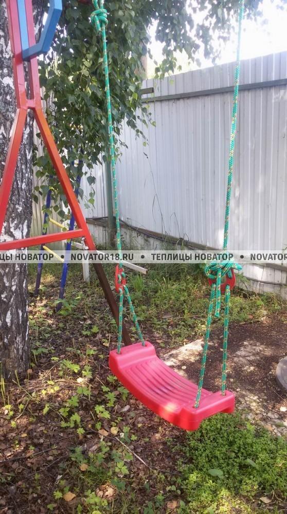 Качели детские подвесные веревочные пластиковые
