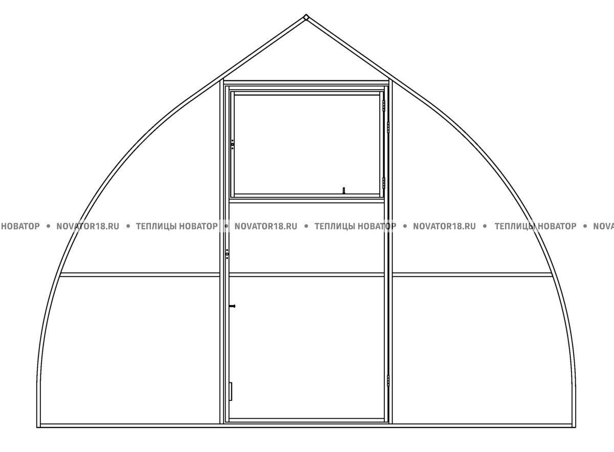 Дополнительная перегородка для теплицы «Капелька» с поликарбонатом
