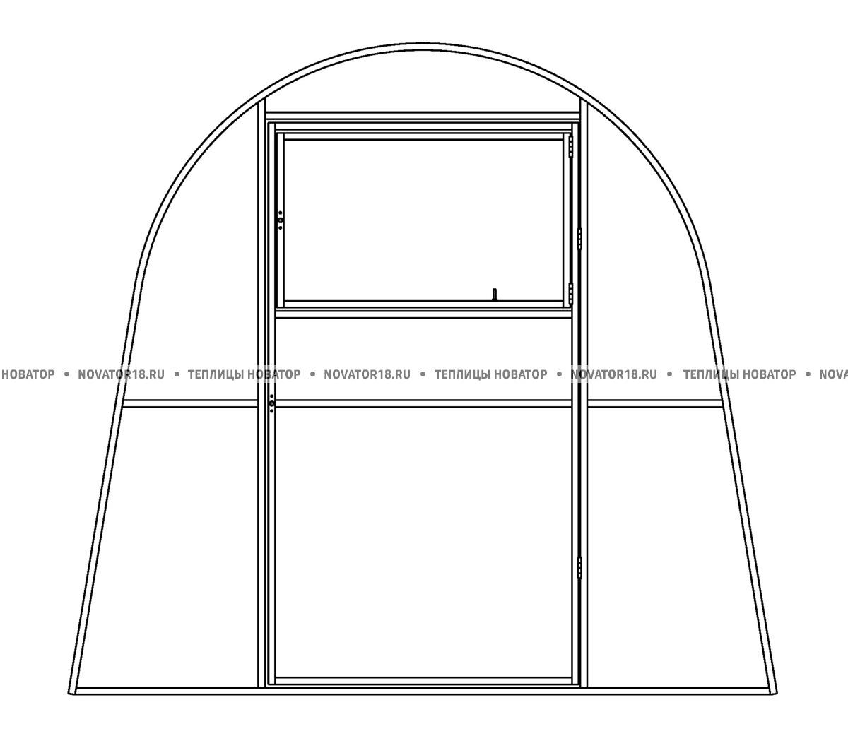 Дополнительная перегородка для теплицы «Позимь» с поликарбонатом