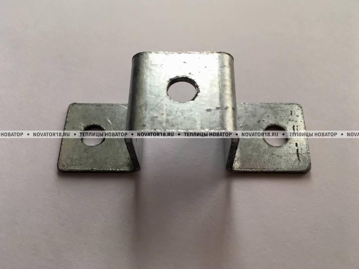 Проушина крепежная для колышков 20x20 мм