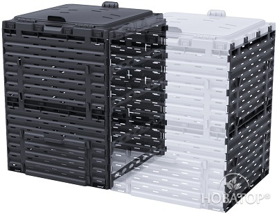Расширитель компостера Piteco 300 л чёрный
