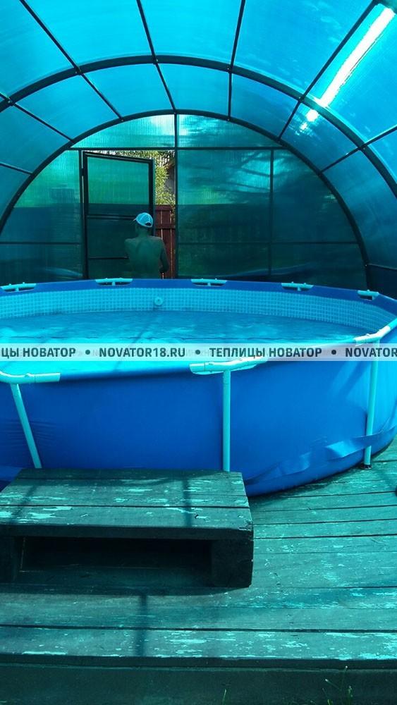Навес для бассейна на заказ по индивидуальным размерам