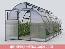 Теплица «Новатор-по-Митлайдеру» с поликарбонатом «Премиум» 4 мм