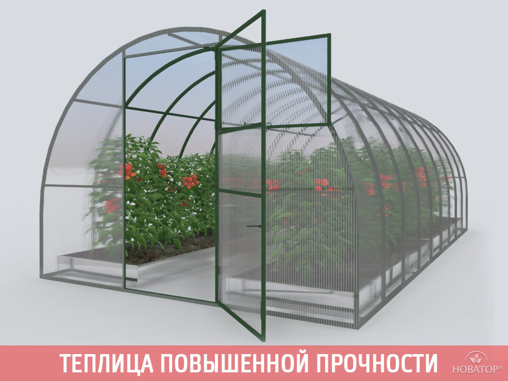 Каркас теплицы «НОВАТОР-Премиум ЦИНК»