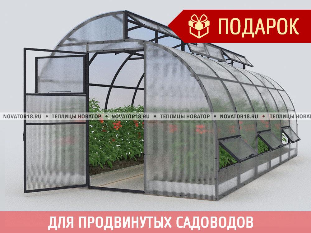 Теплица «Новатор-по-Митлайдеру» с поликарбонатом 4 мм