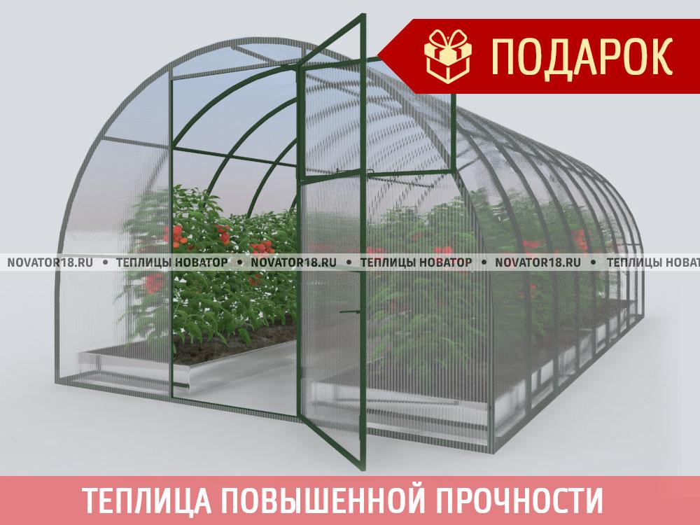 Теплица «НОВАТОР-Премиум» с поликарбонатом 4 мм