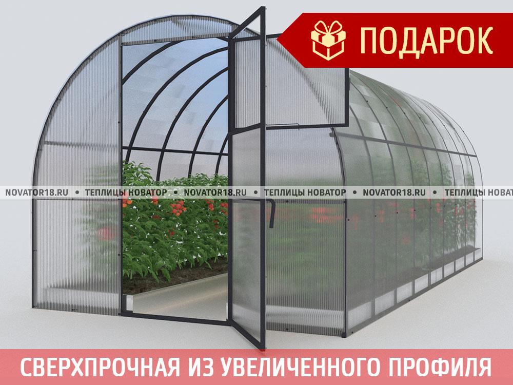 Теплица «Новатор-ТИТАН» с поликарбонатом 4 мм