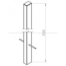 Столб заборный 2.5 метра
