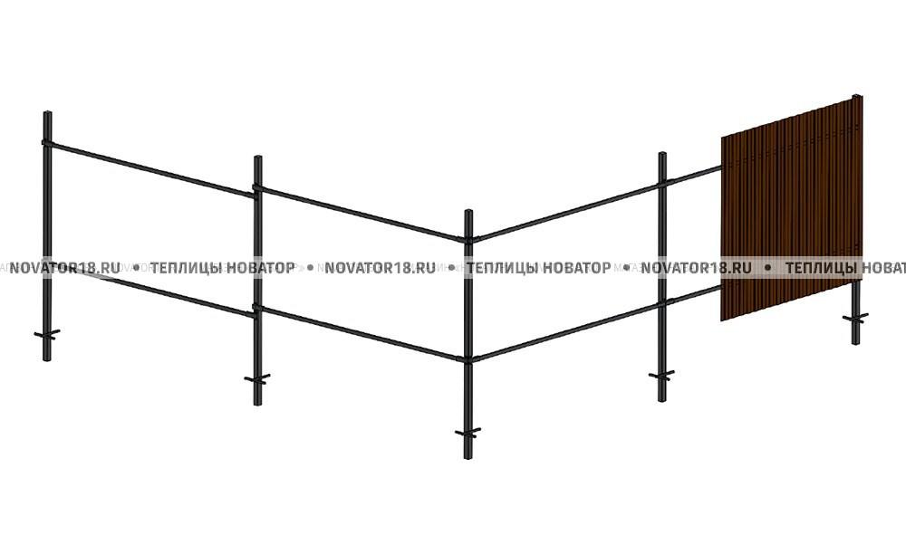 Металлический забор под профнастил или штакетник
